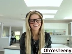 Hipster teen Jessa Rhodes rides a huge cock in hard core sex