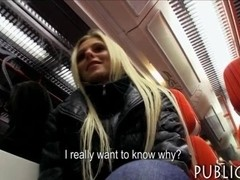 Huge tits amateur blonde Eurobabe payed for hard sex
