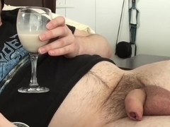 Milk and Cum CEI, Chaturbate Camgirl Makes Me Sip! Soft to Hard Uncut Cock