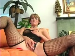 Agreeable Clair in Fishnet Nylons (UxP)