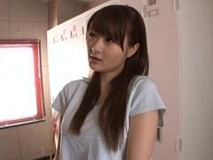 Flirty Teen Azu Hoshitsuki Fucks In The Locker Room