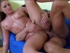 Teen blonde squirter cums hard all over the place