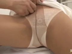 Sexy Nurse Hinata Komine Takes A Cock Up Her Tight Ass