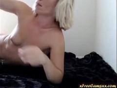 Blonde Teen Babe Webcam Dildo BJ 1