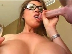 Breasty Asian MILF gets facialized
