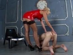 Strict blond dominant-bitch