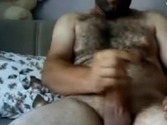 Masturbating Turkey-Turkish Natural Bear Volkan 3