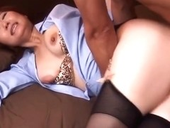 Beauteous oriental mom Sayuri Kotose featuring beautiful fingering sex video