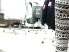 Sexy milf in spandex nice ass at target