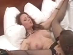 One hot sexy slut gets 2 cocks and 1 creampie