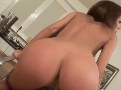 Sexy girl Anita Pearl fingers wildly her shaved pussy for pleasure