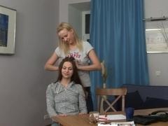 Horny pornstar in best lesbian, blonde xxx clip