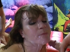 Incredible pornstar in Exotic Bukkake, German adult clip