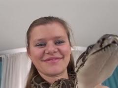 Hottest pornstar in horny blonde, creampie sex clip