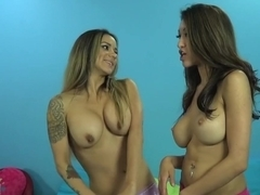 Incredible pornstars Jayden Lee and Nadia Styles in hottest tattoos, squirting xxx clip