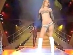 Stunning models in a sexy runway fashion show