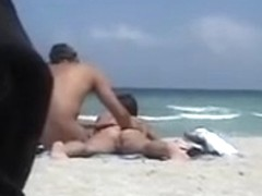 Hot Milf with Big Tits Gets Her Naked Ass Massaged at Beach