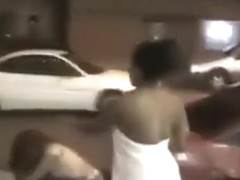 Boobs swinging during a fight