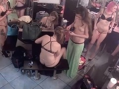 Lots of strippers work in the dressing room