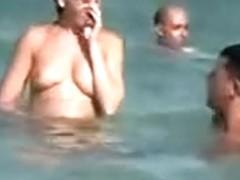 Hidden Voyeur Camera At Beach Nude Girls Relaxing In The Sun