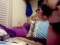 Chubby girl masturbates for webcam