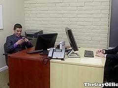boss drills office fuckbuddy on his desk