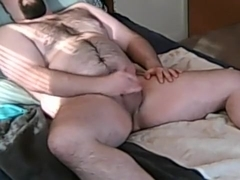 Furry cub jerk off with cum