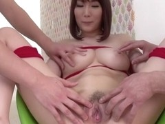 Exotic Japanese girl Mikuni Maisaki in Horny JAV uncensored Threesomes clip