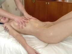 Oil Massage Turns Into An All Out Fuck Session For This Coed