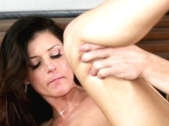 Wickedly hot MILF sucks and jerks off