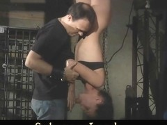Innocent helpless slave gets painful foreplay before fuck