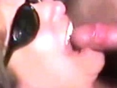 Dude has a chance to cover her tits with jizz on the amateur cam