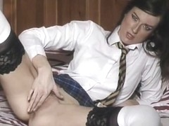 British whore Maddy in nylons