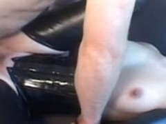 Dana masturbated and fucked by Jo in spandex porn movie