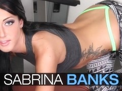 Sabrina Banks Fucked At the Gym with Thong Still On