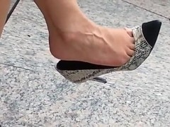 Best candid dangle video sexy high heeled MILF