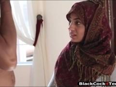 Kinky Arab babe Nadia Ali creampied by her black neighbor