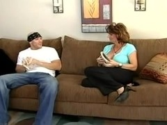 Sexy mother I'd like to fuck enjoys a juvenile fella's strapon