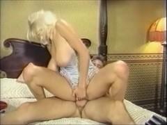 Large Boob Hottie Bounces on Schlong