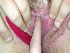 I love to finger a pussy that's wet as this one