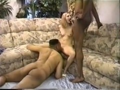 Tiny blonde wife gets double dose of BBC