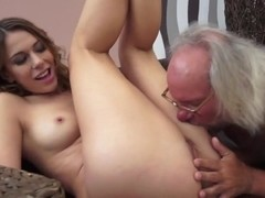 Sexy Twat Helps Out Old Ugly Gardener