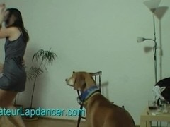 Amatuer girl does lapdance and BJ