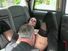 Dark Haired Club Dancer In Fake Taxi