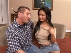 Oriental babe slammed in her hot snatch