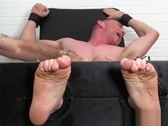 Bound amateur moans while tickle tormented by master