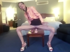Office Slut Loves Big Didlo