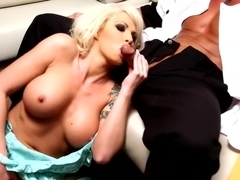 Amazing pornstar Brooke Haven in crazy tattoos, blonde porn clip