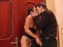 Fabulous pornstars Adriana Chechik, Manuel Ferrara, Kota Sky in Best Anal, Threesomes sex scene