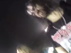 Enchanting singer jumps into the crowd